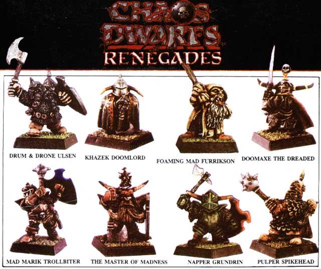 Chaos Dwarfs Renegades (contracubierta)
