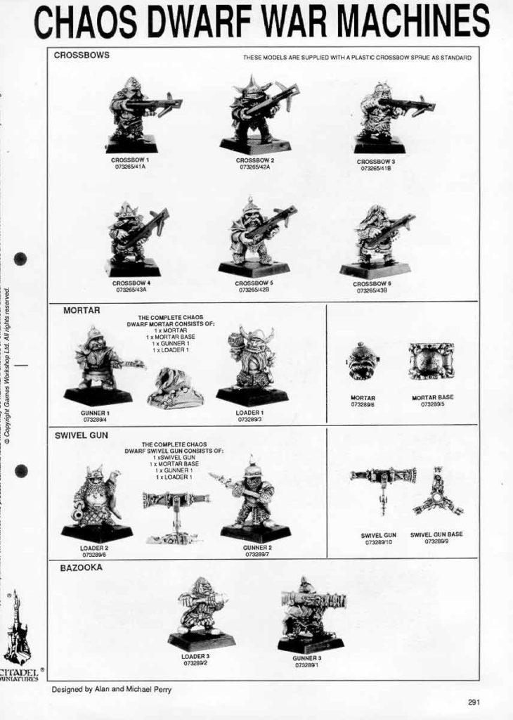 Crossbows, Mortar, Swivel Gun y Bazooka