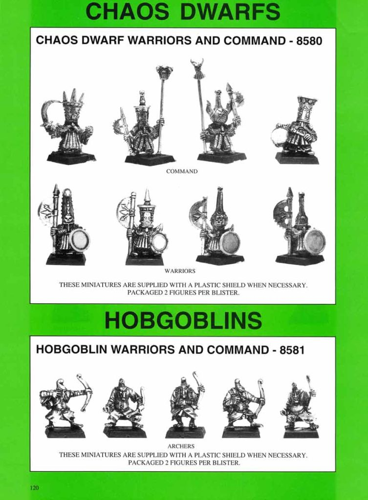 Chaos Dwarf Warriors and Command & Hobgoblin Archers