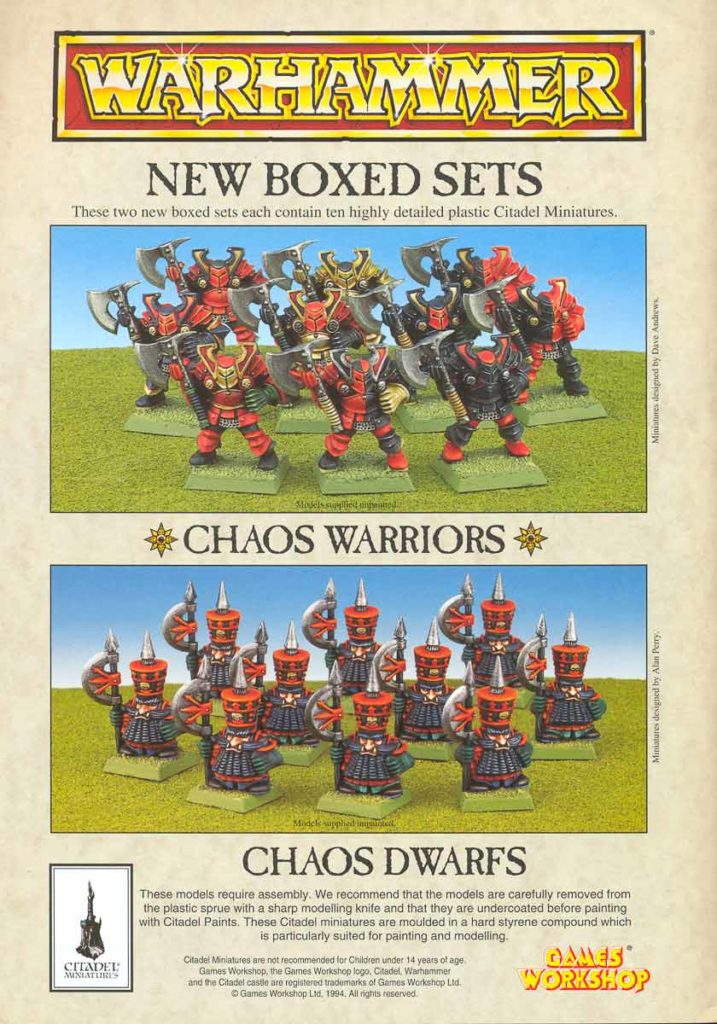 New Boxed Sets: Chaos Dwarfs