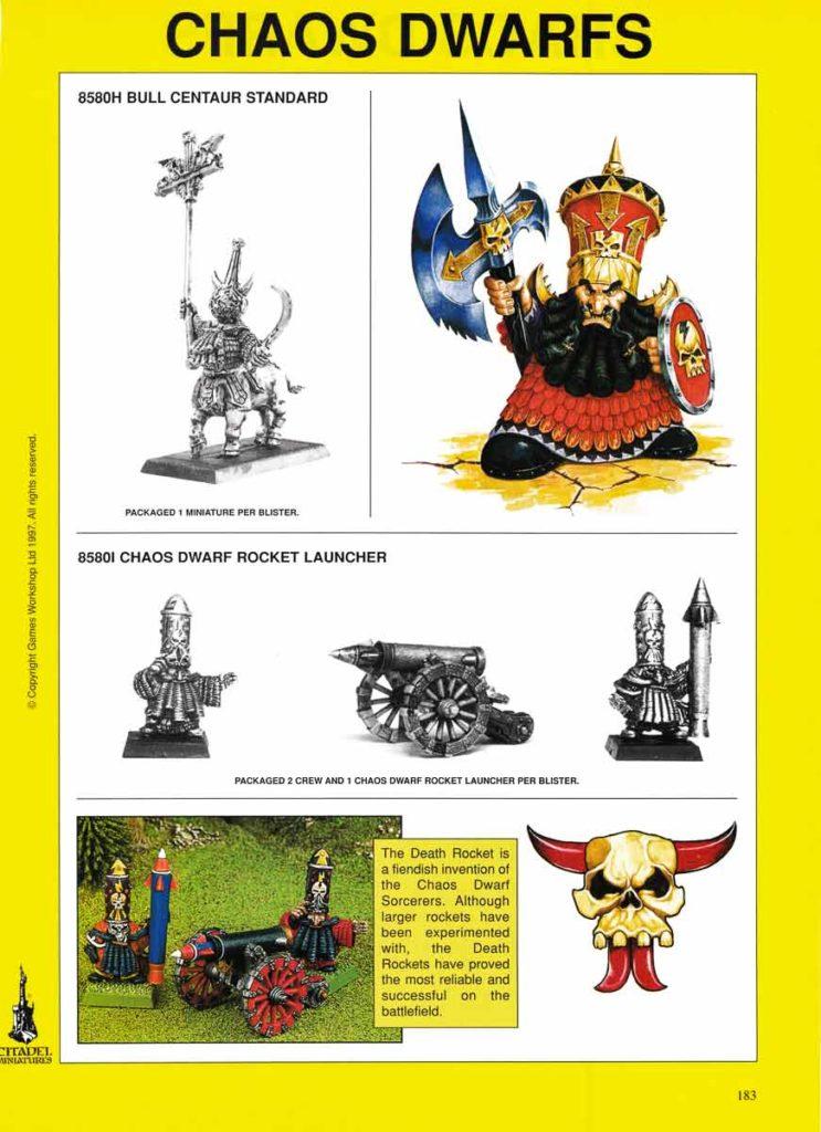 Bull Centaur Standard & Chaos Dwarf Rockeht Launcher