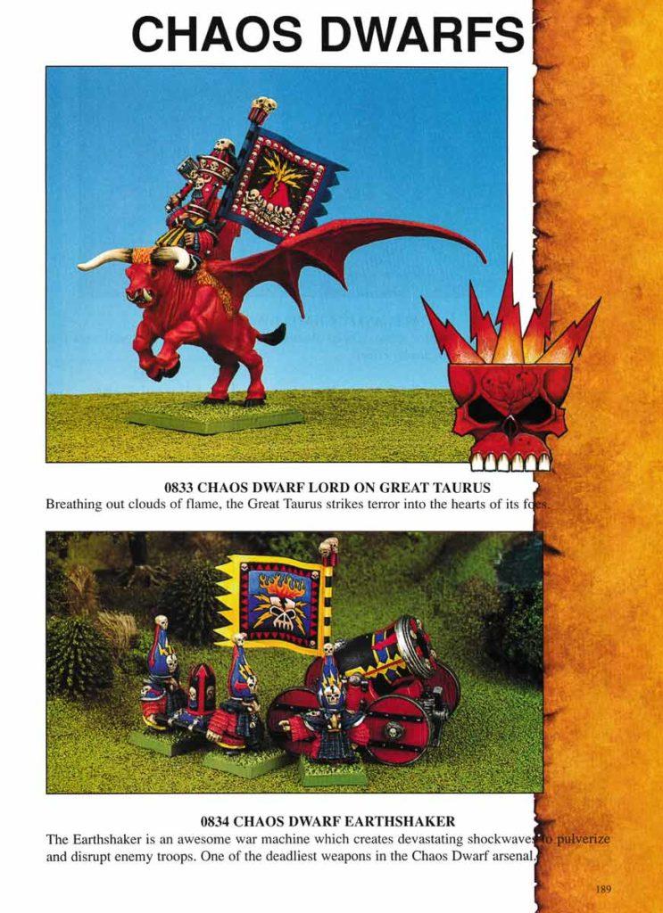 Chaos Dwarf Lord on Great Taurus & Chaos Dwarf Earthshaker
