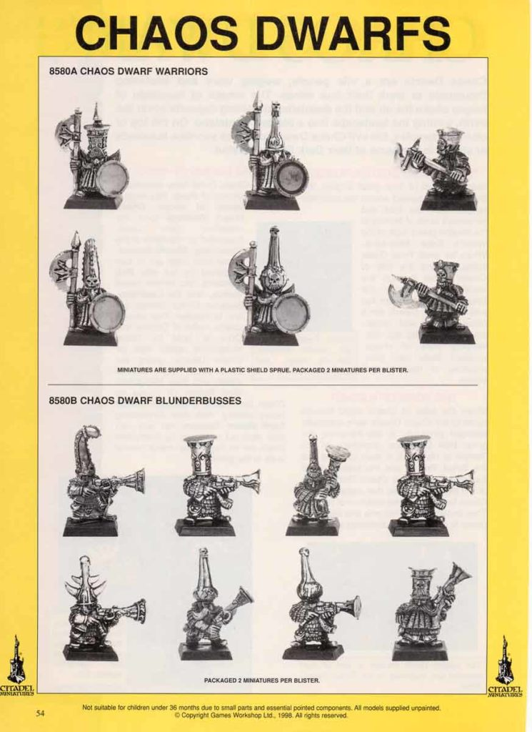 Chaos Dwarf Warriors & Blunderbusses