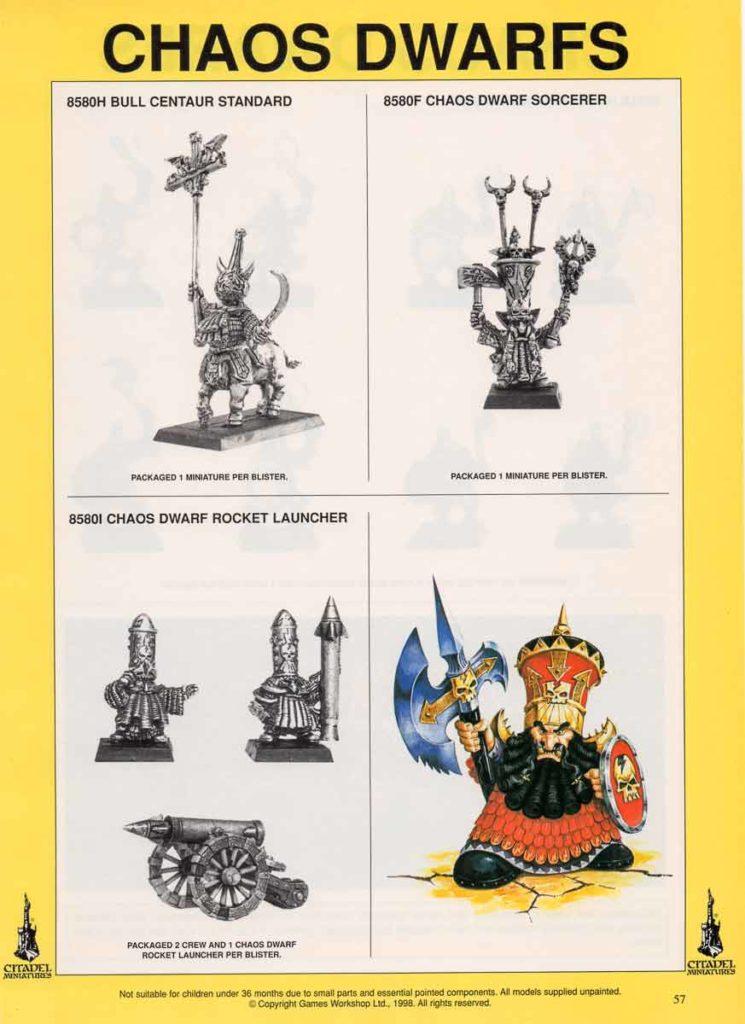 Bull Centaur Standard, Chaos Dwarf Sorcerer & Rocket Launcher