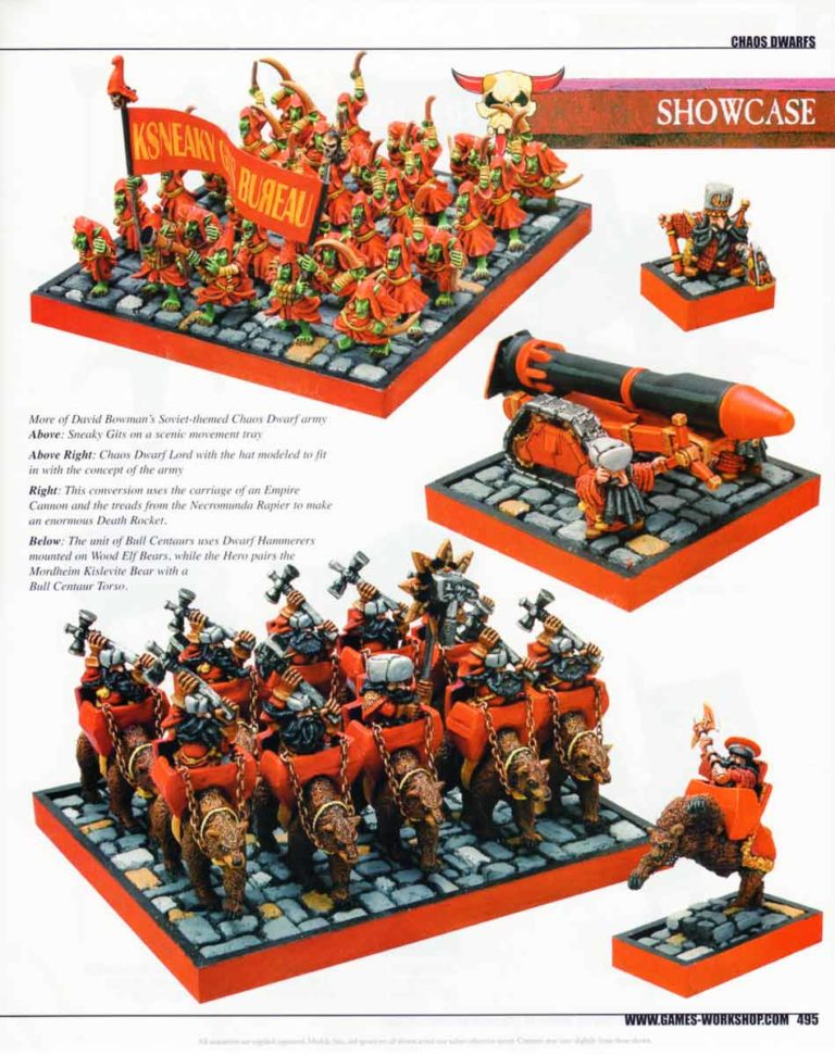 David Bowman's Soviet-themed Chaos Dwarf army