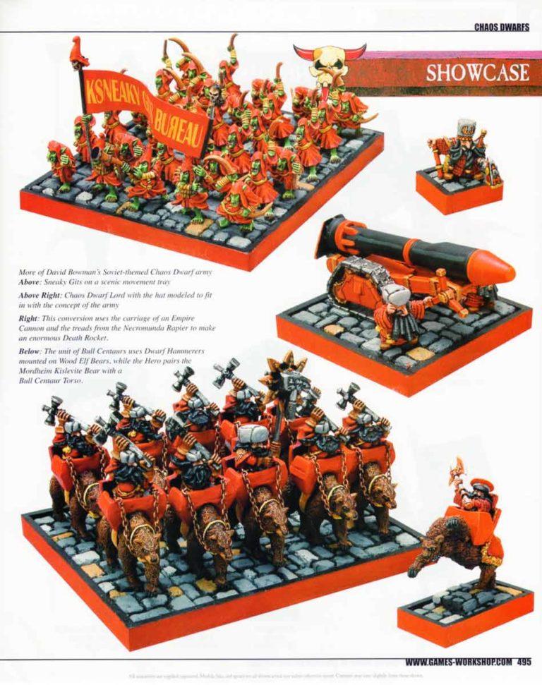David Bowman's Soviet-themed Chaos Dwarf army
