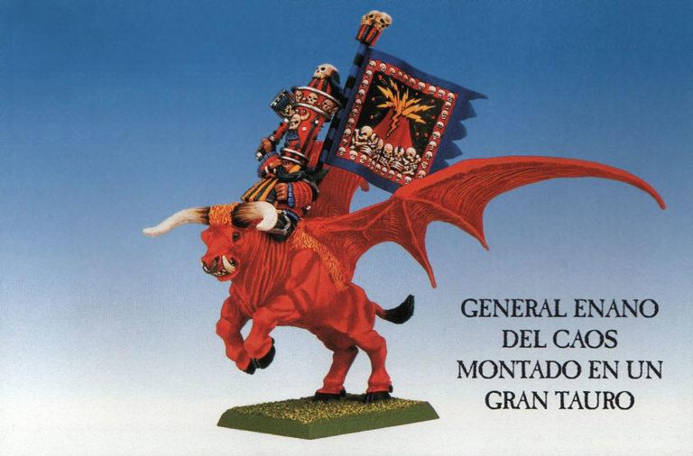 General Enano del Caos montado en Gran Tauro