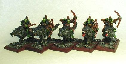 Jinetes de lobo con arco