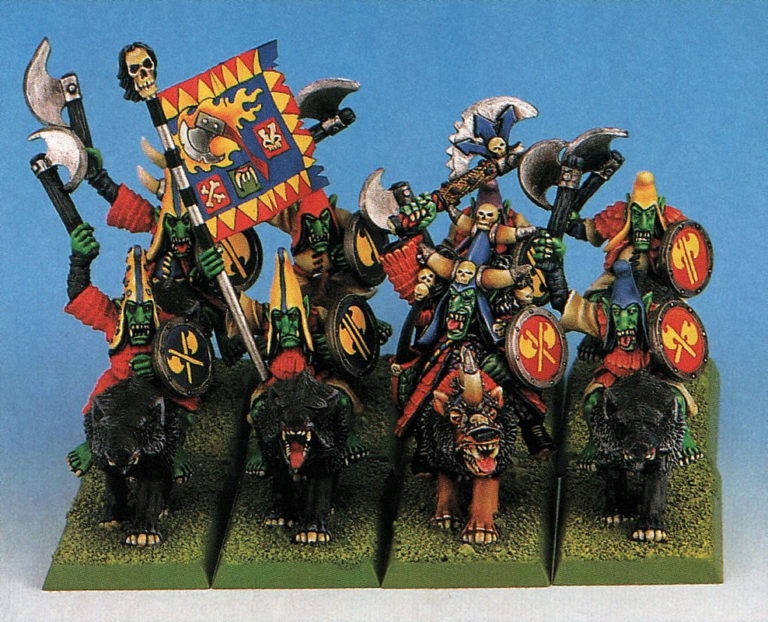 Una unidad de Jinetes de Lobo Hobgoblins